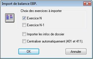 Importation d'une balance EBP