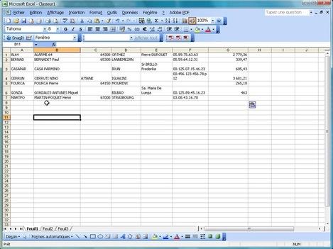 Tableau d'ApiSoft Comptabilité v7 copié directement dans Microsoft Excel